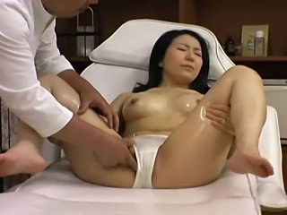 Young wife is seduced by a masseur at a beauty parlor. Filmed with Spycams