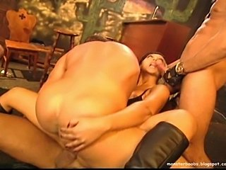Prepotent blonde bitch fucked by seven bikers,after finishing fucking her the...