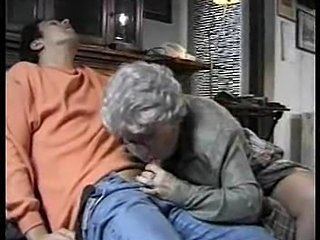 Granny with sexy gray hair fucked by stud