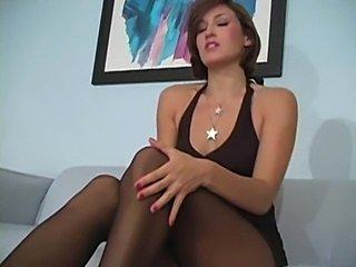 Maria menendez pantyhose solo tease  free