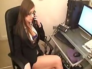Office babe secretary Rough Interracial oral Blowjob Black boss