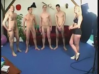 Blonde gym teacher gangbanged