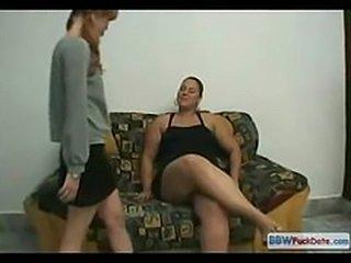 BBW Teen vs Anorexic Teen