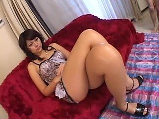 Chinese girl gives footjob  free