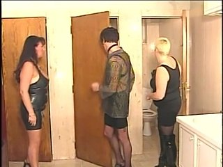 Bisexual couple in amazing group fuck with shemale