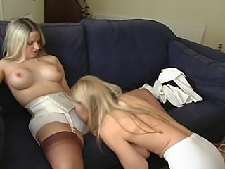 Nice flick about 2 girls in Nylon / Stockings
